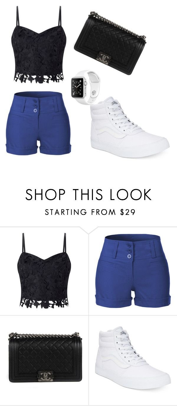 """""""summer outfit"""" by nene-gibson ❤ liked on Polyvore featuring Lipsy, LE3NO, Chanel and Vans"""