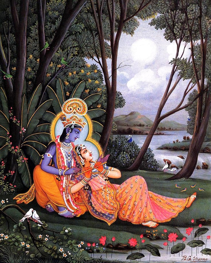 Radha and Krishna | Divine Love, spiritual art, meditation inspiration