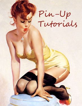 pin up tutorial:  http://www.hollywoodnoirmakeup.com/tag/pin-up/
