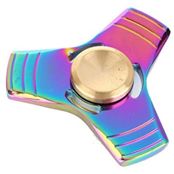 Colorful EDC Hand Spinner Finger Spinner Fidget Gadget Focus Reduce Stress Gadget Dazzle Color Triangle 2 Style by Aroundstore ** Click on the image for additional details. (This is an affiliate link and I receive a commission for the sales)