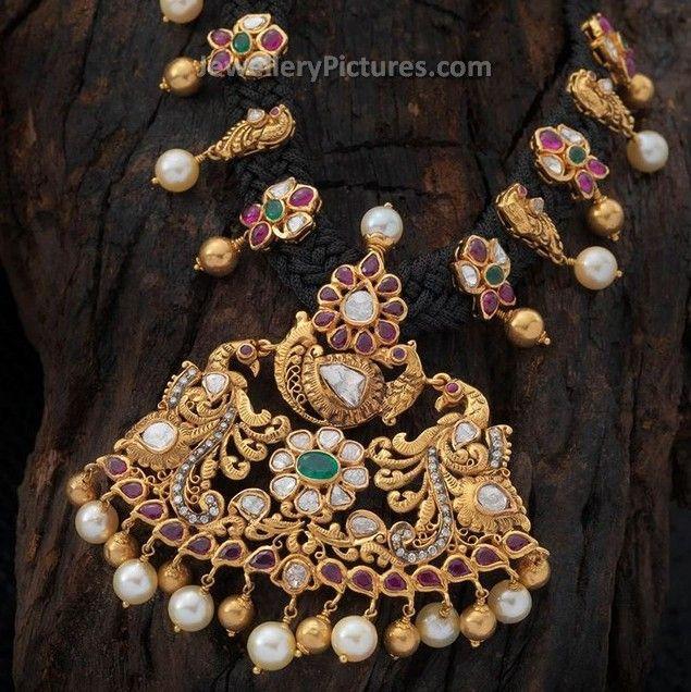 Antique necklace and antique finish necklacesLatest designs