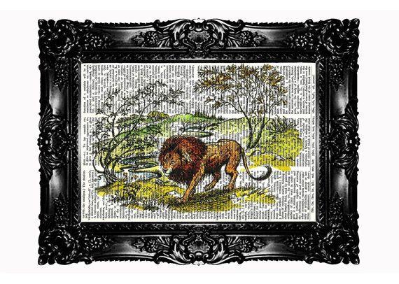 Narnia 3 Lion Aslan Chronicles Of Narnia Upcycled Book