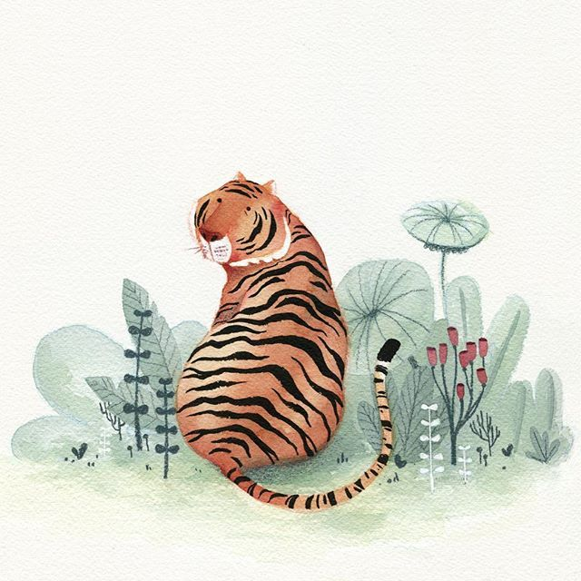 Tigress #kidlitart #watercolor #tiger #illustration