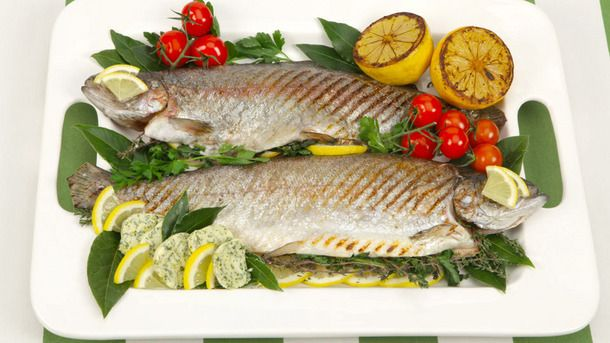 Whole Grilled Trout with Lemon Parsley Butter Recipe