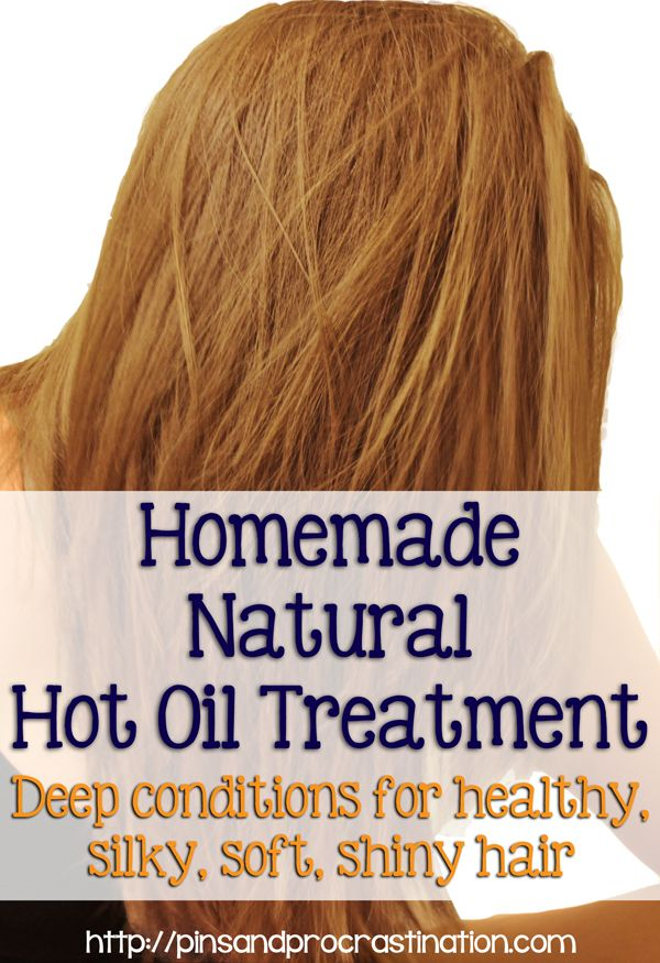 Homemade Natural Hot Oil Hair Treatment - Only 3 ingredients!