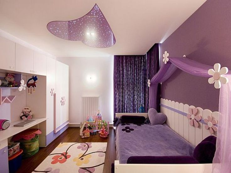 Teens Room: Teenage Girl Bedroom Ideas Wall Colors Purple Curtains Decor Girl Bedroom Teenage Girl