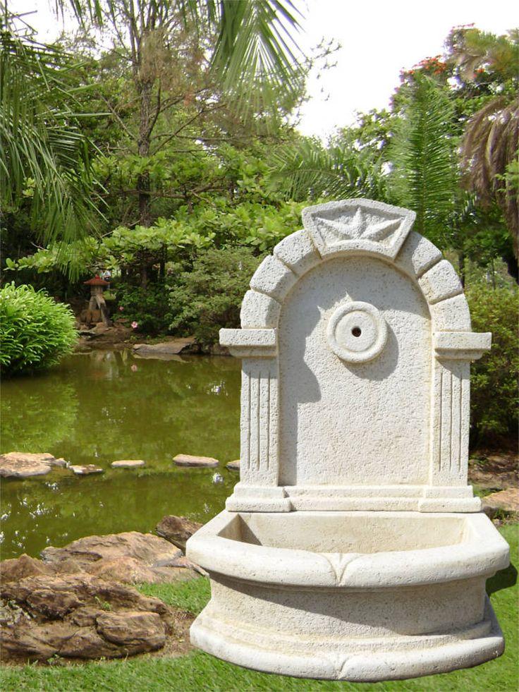 11 best fontaine de jardin pierre et fonte images on. Black Bedroom Furniture Sets. Home Design Ideas