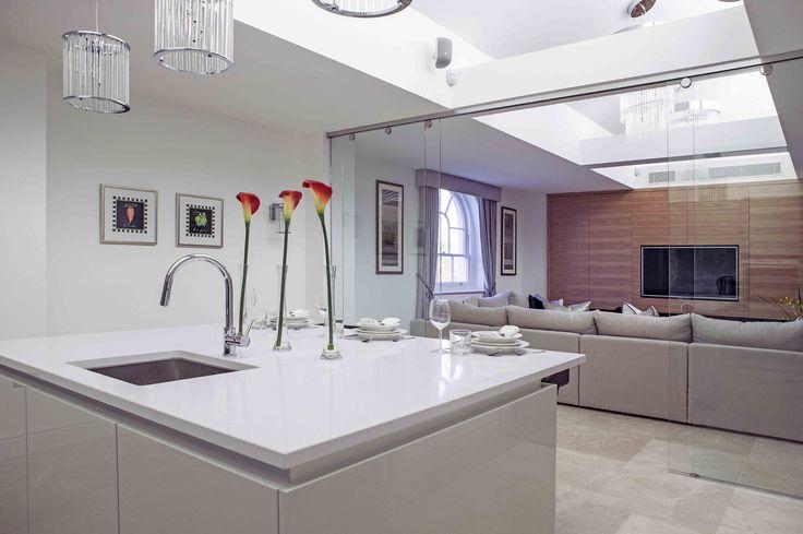 Contemporary Open Plan Kitchen Interior | JHR Interiors