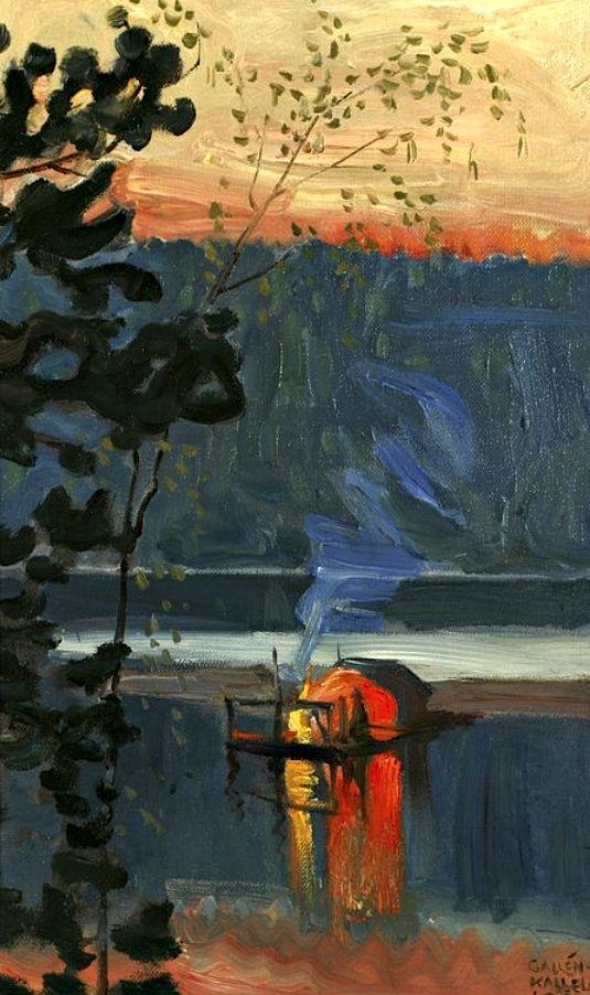 """Stockflotte"" 1908, Akseli Gallen-Kallela (Swedish, 26 April 1865 – 7 March 1931)"