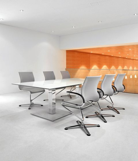 Polished Metal Gray Conference Chair Ambience Dore' in Burbank,CA