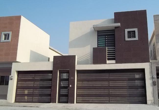 Fachadas de casas modernas con piedras decorativas for Casas tipo minimalista