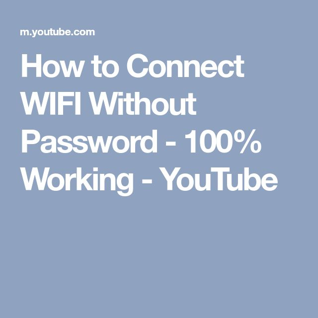 How to Connect WIFI Without Password - 100% Working - YouTube