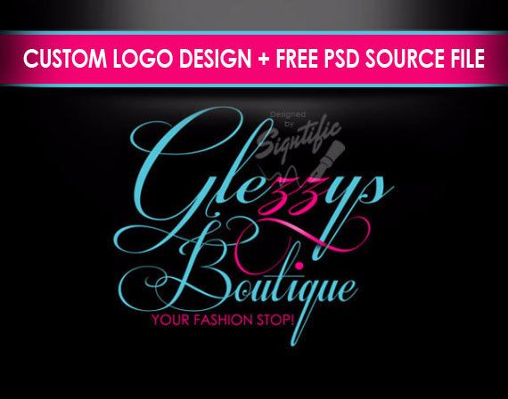 Boutique logo elegant logo design pink and turquoise by Signtific
