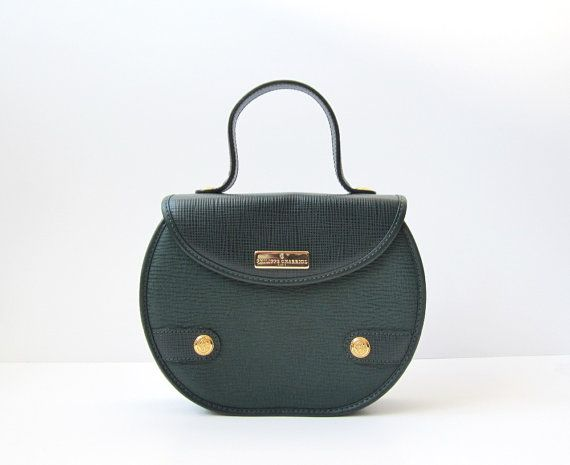 1980's PHILIPPE CHARRIOL Forest Green Satchel by OiseauVintage, $129.00