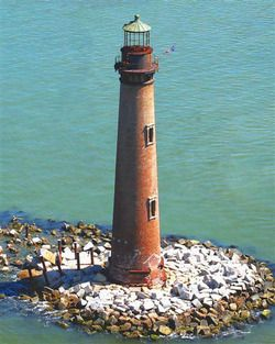 Sand Island Lighthouse, Alabama - I used to watch this light at night as a child when we would be at the Gulf...