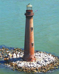 Sand island light house alabama