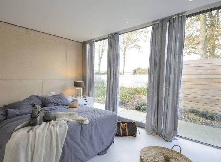 Nowoczesna sypialnia od Blok Kats van Veen Architecten