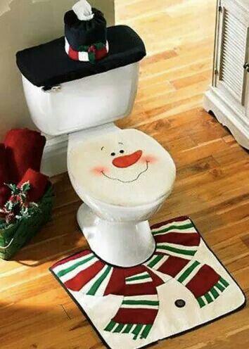 Cute Christmas idea for the bathroom