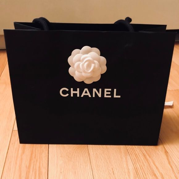 Chanel Shopping Bag W Camellia Flower And Ribbon Authentic