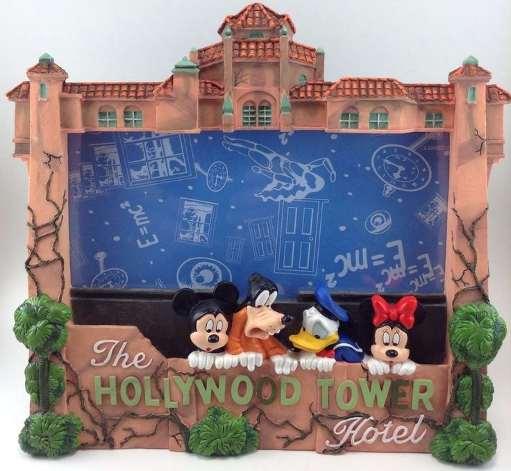 The Hollywood Tower Hotel Picture Frame Photo Mickey Mouse ...