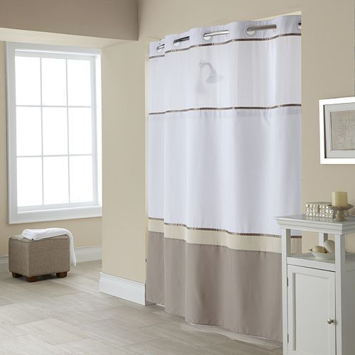 Windsor 2 Pc Fabric Shower Curtain Liner Set Hookless Shower