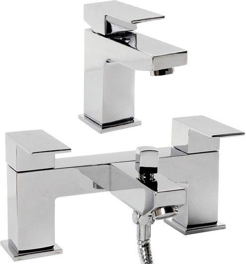 Basin mixer and bath shower mixer tap set
