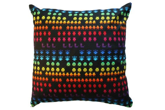 Space Invaders Cushion Cover Arcade Game by BlossomvioletCrafts