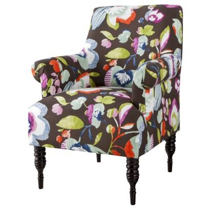 Chair possibility for the upstairs reading nook -Candace Upholstered Arm Chair - Multicolored Floral - Target online only
