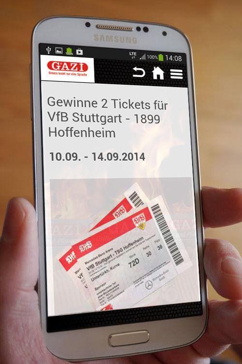 #Gewinnspiel: Bis zum 14.09.2014 2 x 2 Tickets #VfB gegen #Hoffenheim gewinnen. Hier kostenlos die App downloaden und mitspielen: gazi-grillkaese.de