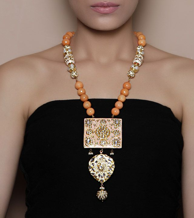 Orange Floral Necklace by Indiatrend Shop now on www.indianroots.com