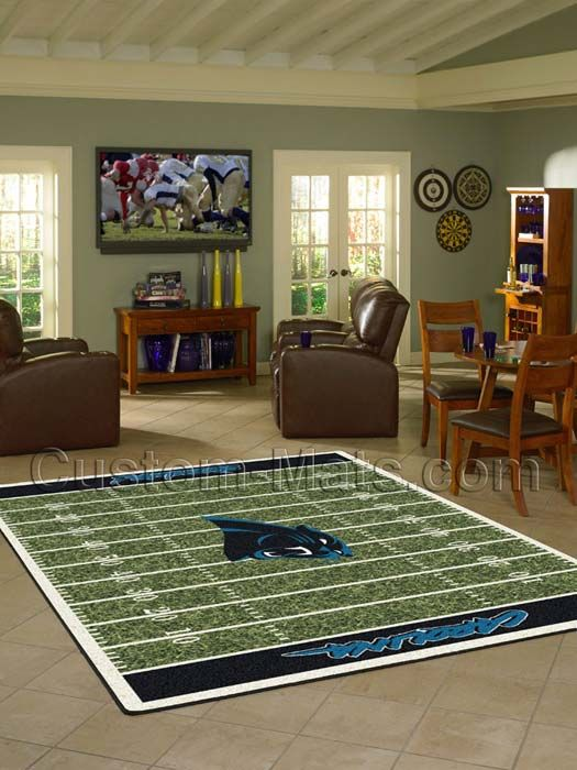Carolina Panthers NFL Home Field Rug
