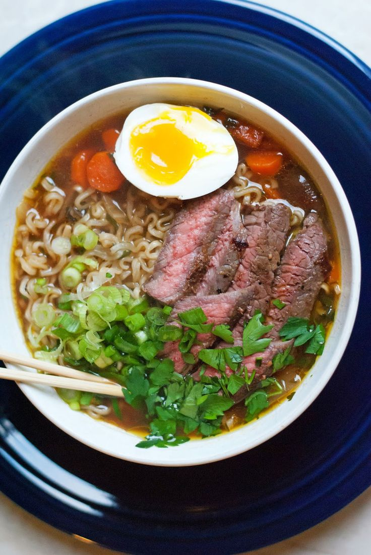 Beef Ramen Noodle Soup #healthy #recipes #ramen http://greatist.com/eat/healthier-ramen-recipes
