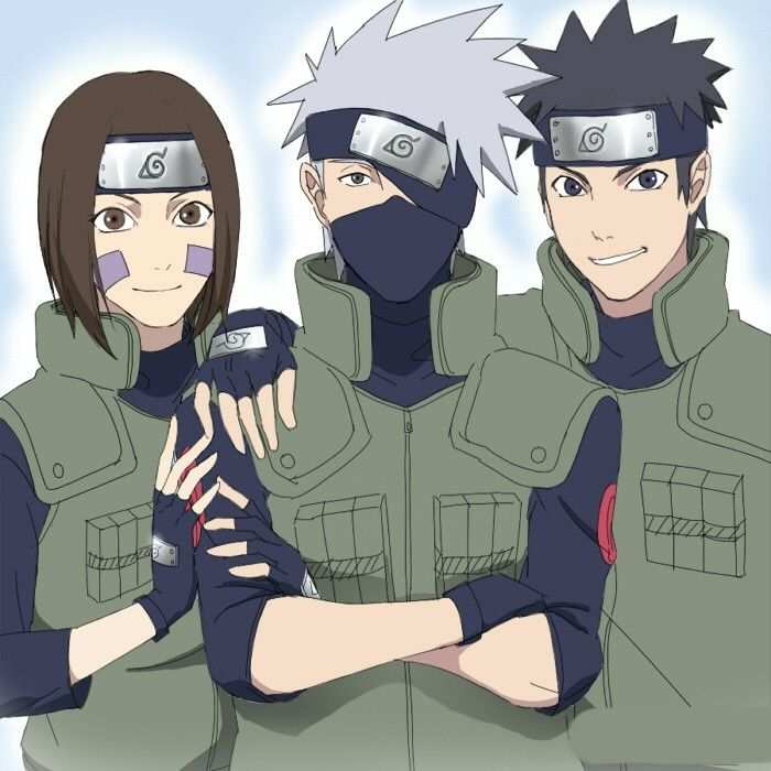 Team Minato! If Kakashi's eye is covered, why isn't Obito ...