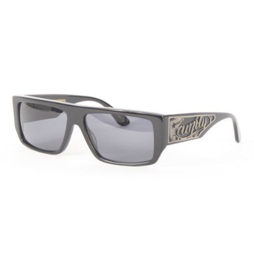 Famous Stars and Straps - Family Sci Fly IV Sunglasses in Shiny Black Smoke, b7e6cd483d