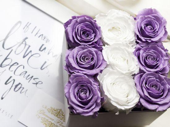 flowerbox stabilizované růže