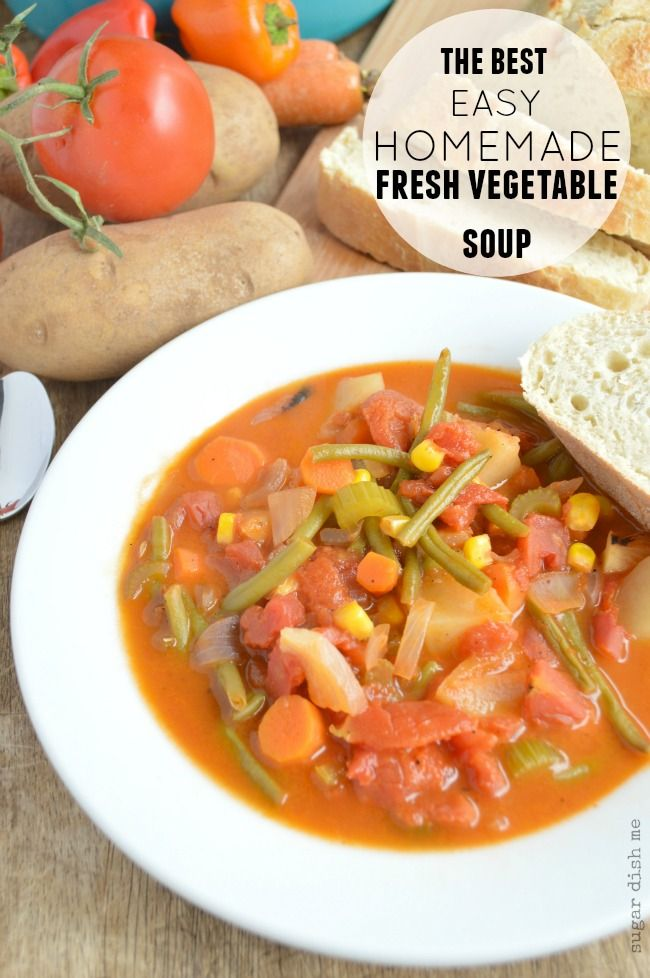 www freeusa com Homemade Fresh Vegetable Soup   Sugar Dish Me