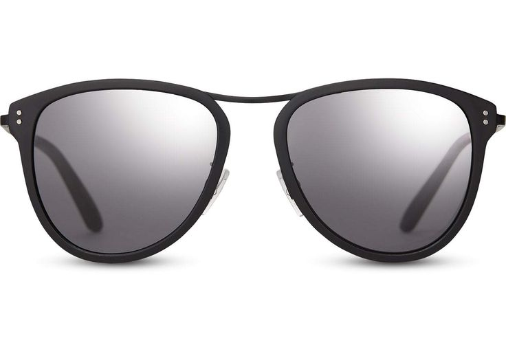 TOMS - Franco Matte Black Sunglasses / Olive Gradient Lenses