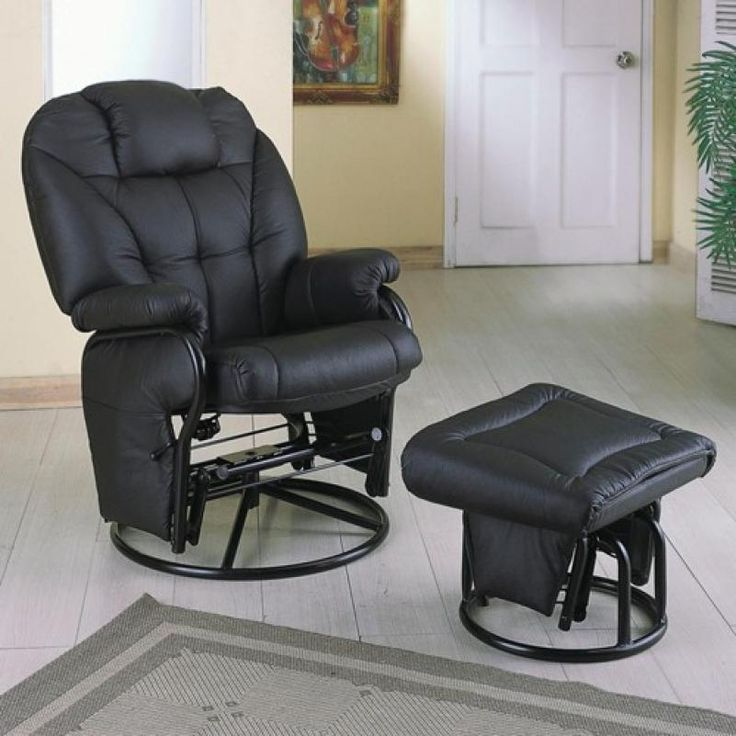 Recliners With Ottomans Leatherette Recliner With Matching Ottoman: Sit  Back And Stay Awhile With The