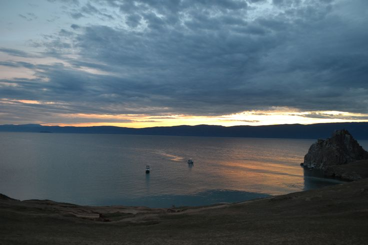 Lake Baikal at dusk, utterly divine