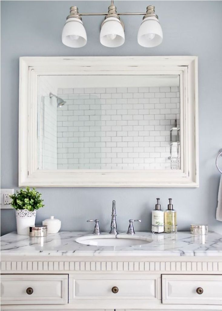 White Frame Bathroom Mirror Google