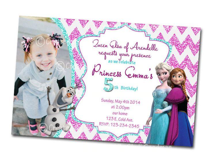 Frozen Invitations  printable  DIY  digital file by CupcakeTops, $8.00