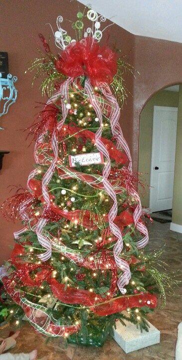 18 best Deco christmas tree images on Pinterest | Mesh christmas ...