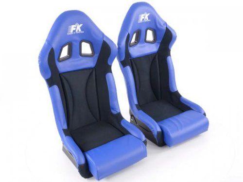FK Automotive FKRSE703/703 Sportsitz Autositz Vollschalensitz Set Race 1 Rennsitz Glanz-Fiberglas-Cover
