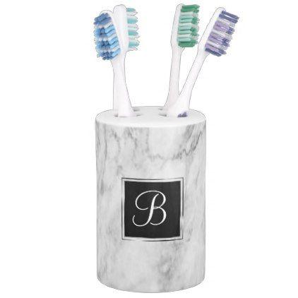Marble Bath   Classic Monogram Chic Basic Simple   Bath Set - bridal shower gifts ideas wedding bride