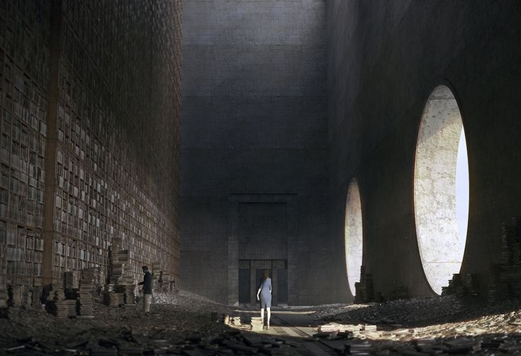 jie ma conceptualizes architectural visions for libraries of the future