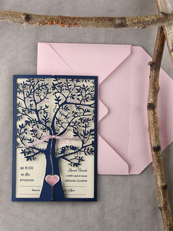 Baum+Hochzeitseinladungen+20+Rustic+Hochzeit+von+forlovepolkadots