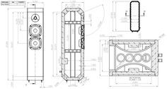 Ion 2-Way TMM Tower Loudspeaker Enclosure Drawing