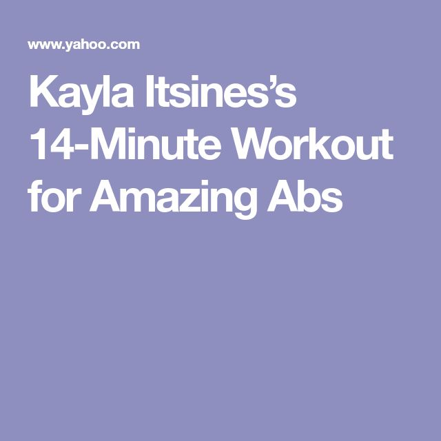 Kayla Itsines's 14-Minute Workout for Amazing Abs