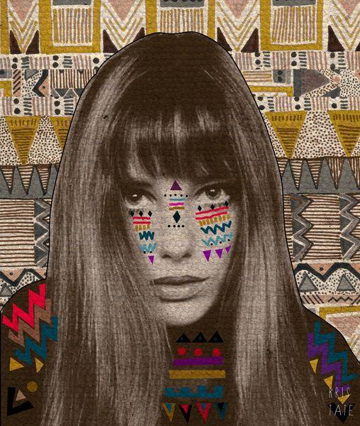Tribal everywhere. Jane Birkin