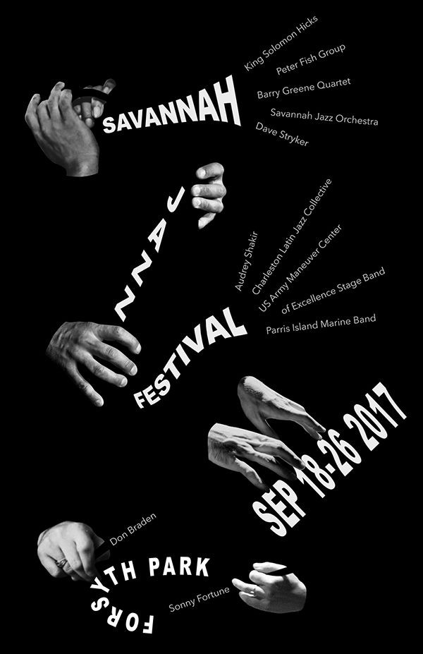 Savannah Jazz Festival poster by Wei-Shen Wang. https://www.behance.net/gallery/49172057/Savannah-Jazz-Festival